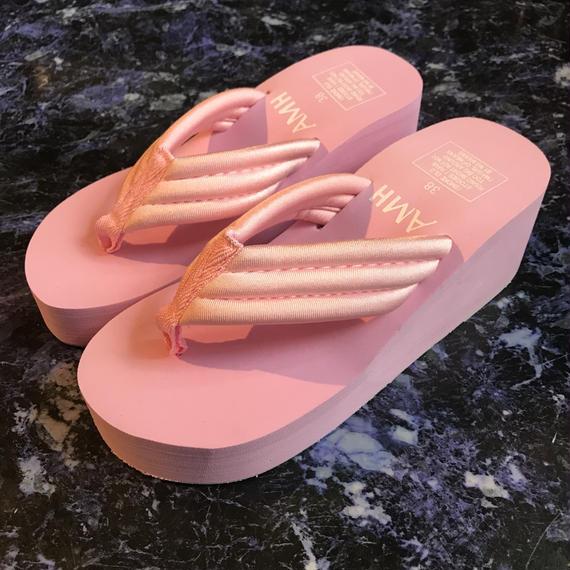 厚底サンダル/pink