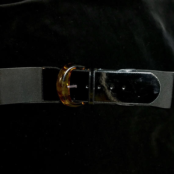 Vintage enamel rubber belt / エナメルゴムベルト