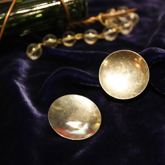Vintage Silver Circle Earring