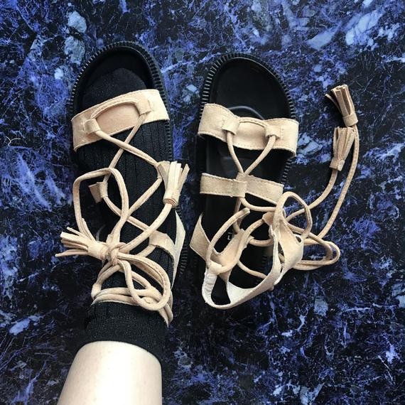 Lace up Sandals <beige>
