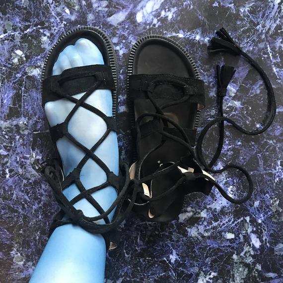 Lace up Sandals <brack>