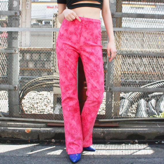 【DEADSTOCK】Python print high-waist pants / パイソンプリントハイウエストパンツ