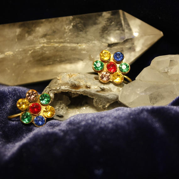Antique Floral Bijou Earring