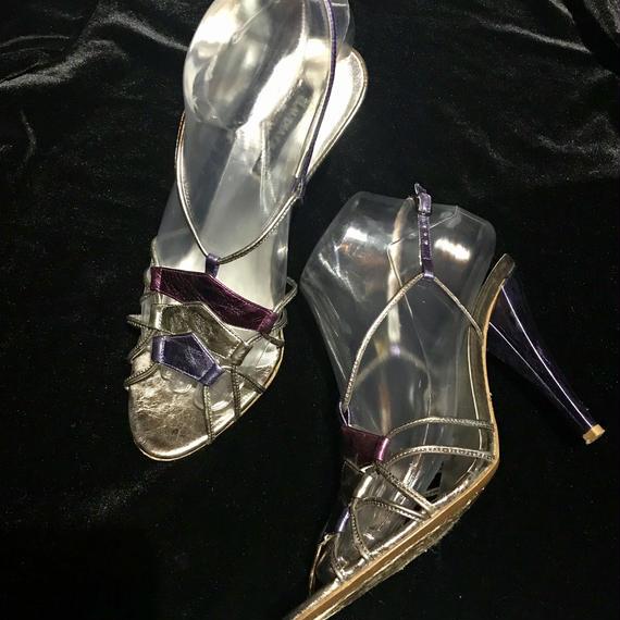 Metallic heel sandal / メタリックヒールサンダル