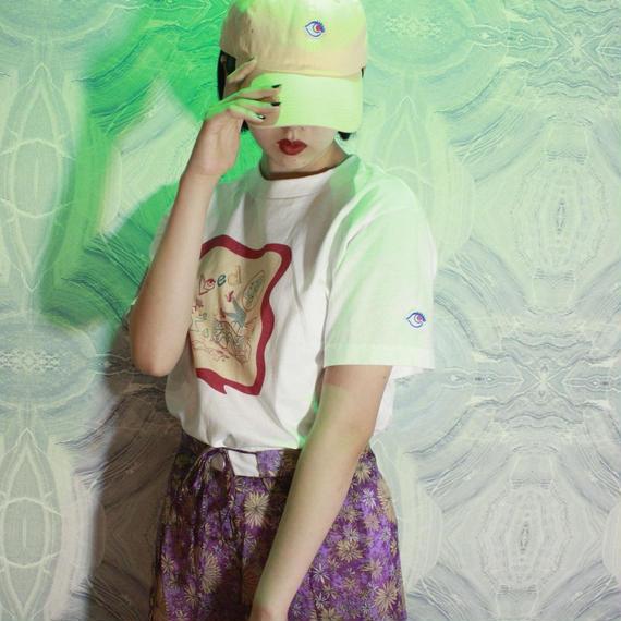 【bed】Original Sticker T Shirt / White