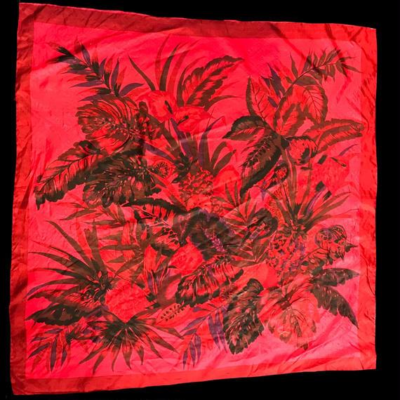 Elegant flower pattern scarf / エレガント花柄スカーフ