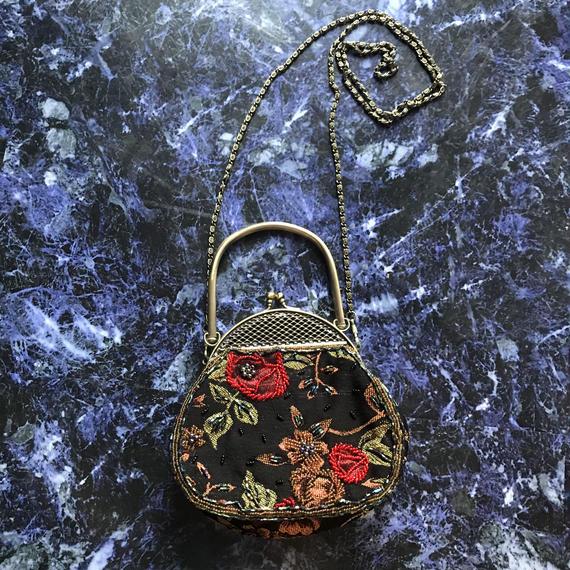 Flower beads mini  bag