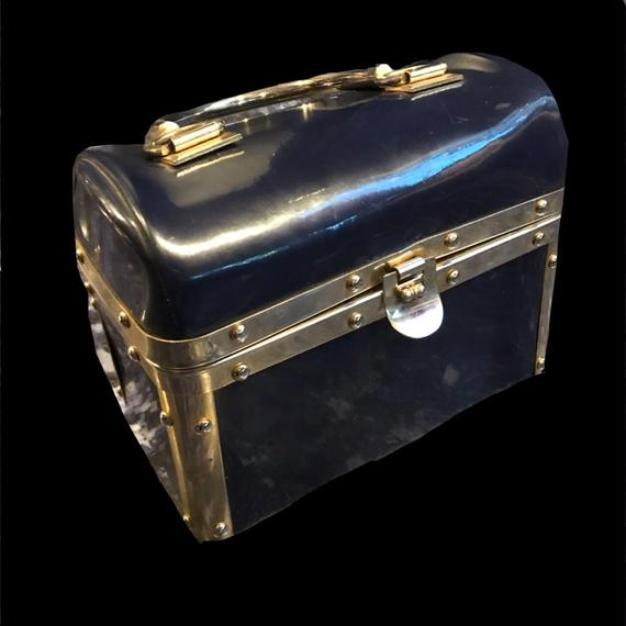 1950's Vintage enamel box hand bag