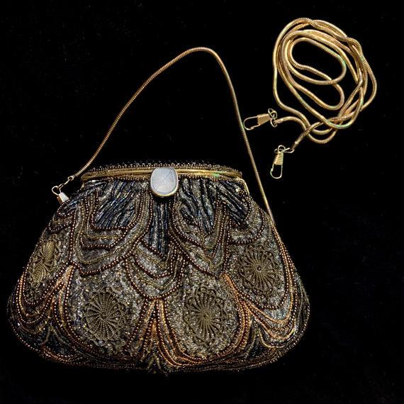 Gold beads 2way hand bag / ゴールドビーズ2WAYバッグ