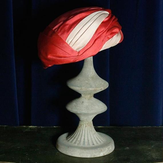 Vintage Pink Design Hat / ピンクデザインハット