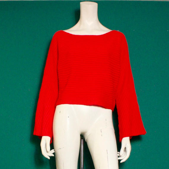 【migration】Flare sleeve rib knit tops / フレアスリーブニット