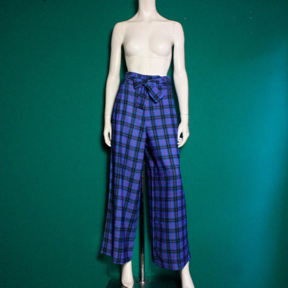 【migration】Checkered Pants / Blue