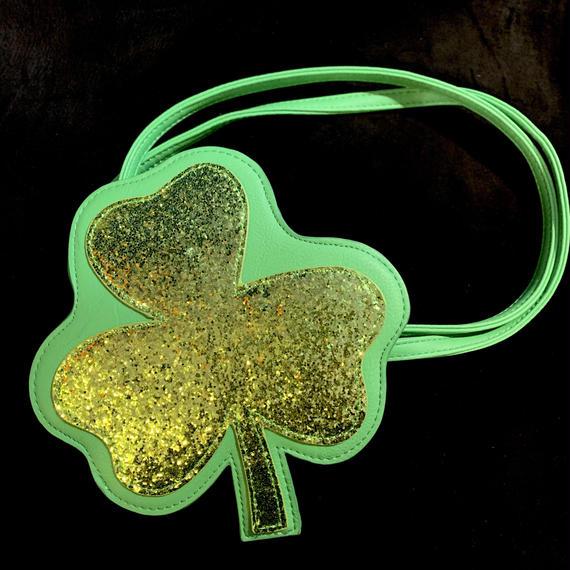 Three-leef clover glitter hand bag / 三つ葉クローバーバッグ