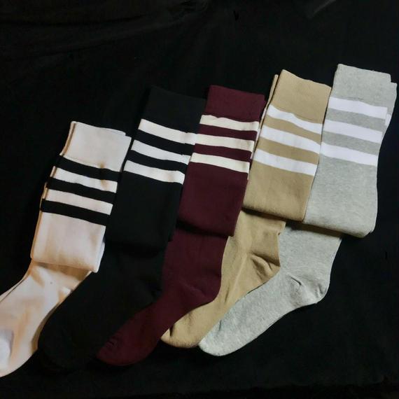Line knee high socks /ライン入りニーハイソックス mg-106