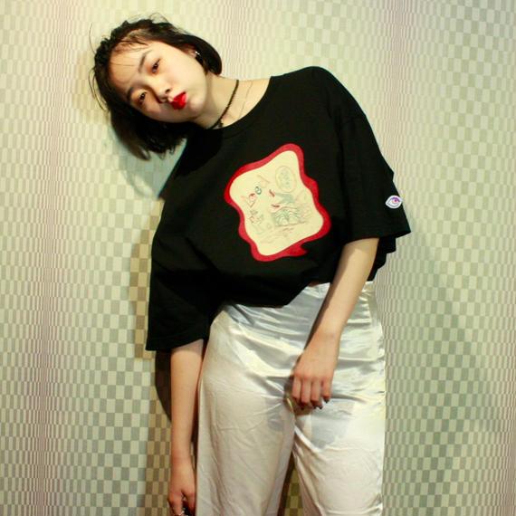 【bed】Original Sticker T Shirt / Black
