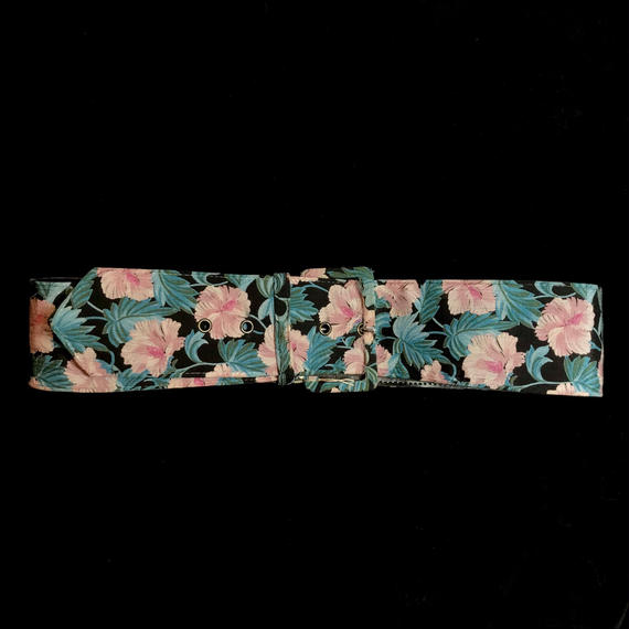 Tropical flower patten Belt  /  トロピカル花柄ベルト