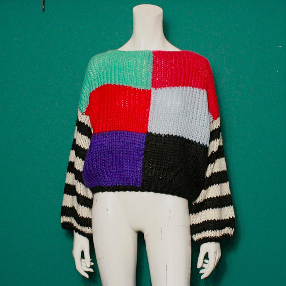 【migration】Colorful border knit tops / mg-133