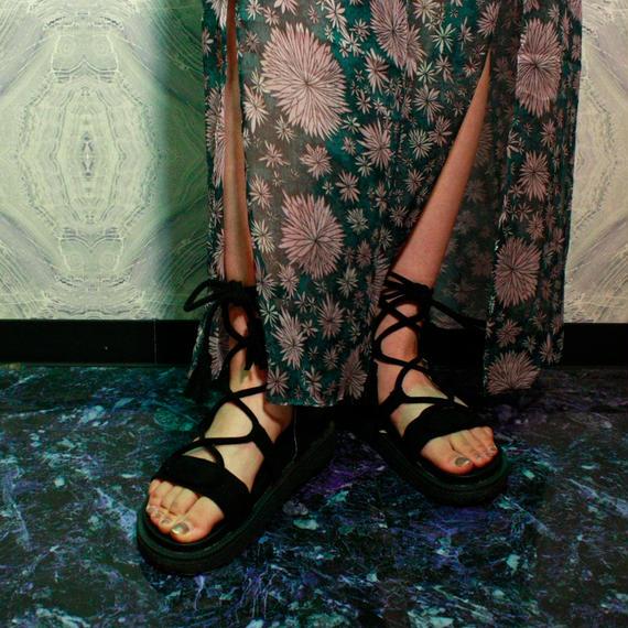 Lace up Sandals / black