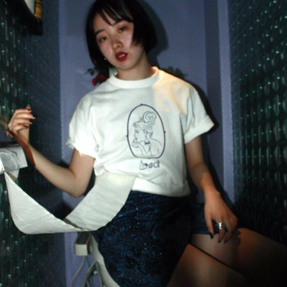 【bed】Original T Shirt  (Lady)/ white
