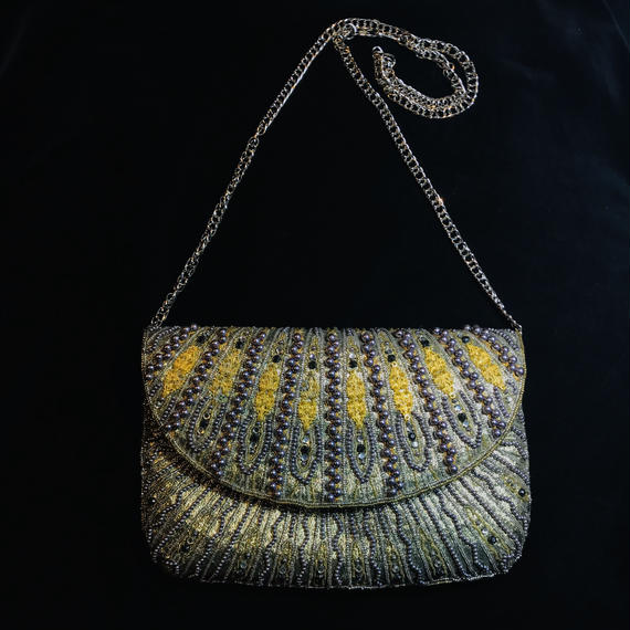 Gold beads shoulder bag / ゴールドビーズショルダーバッグ