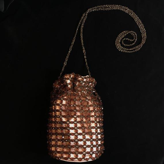 Braided beads shoulder bag / 編みビーズショルダーバッグ