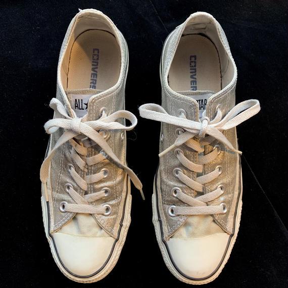 【used】Silver low-cut converse / シルバーローカットコンバース