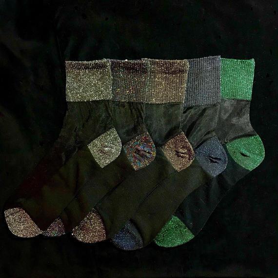 Glitter see-through socks / ラメシースルーソックス mg-105