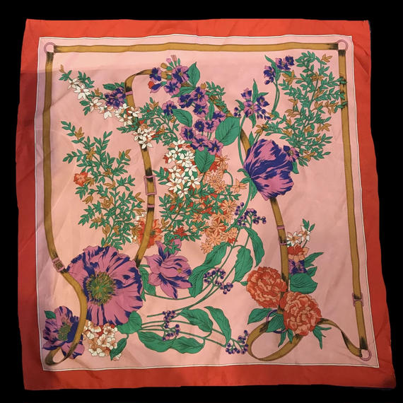Oriental flower patten scarf / オリエンタル花柄スカーフ