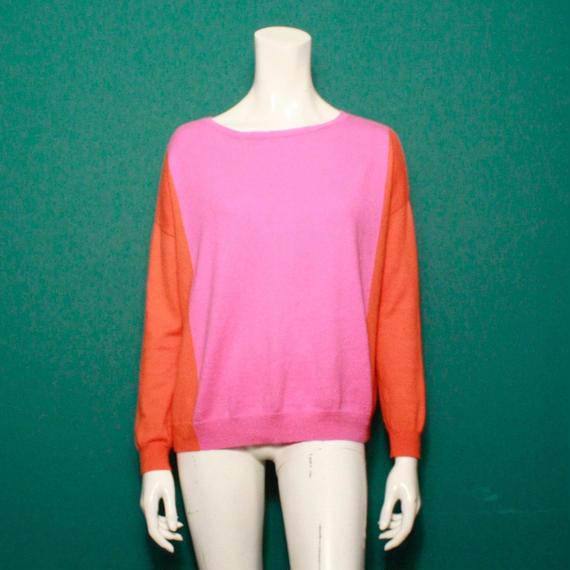 Bicolor sweater / バイカラーセーター