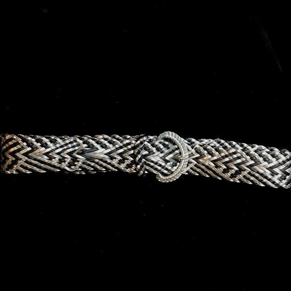 Vintage silver×black mesh belt / シルバー×黒メッシュベルト