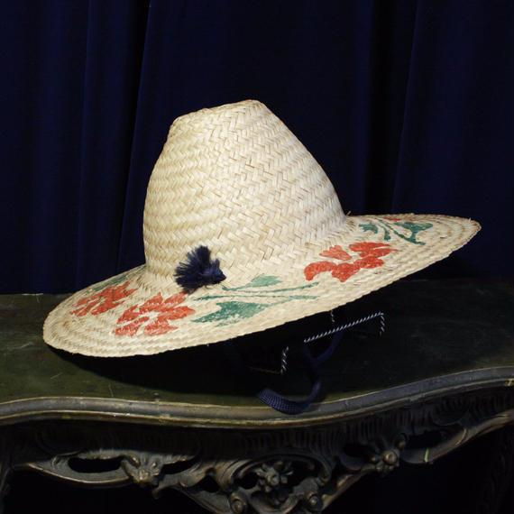 Vintage Flower Paint Straw Hat