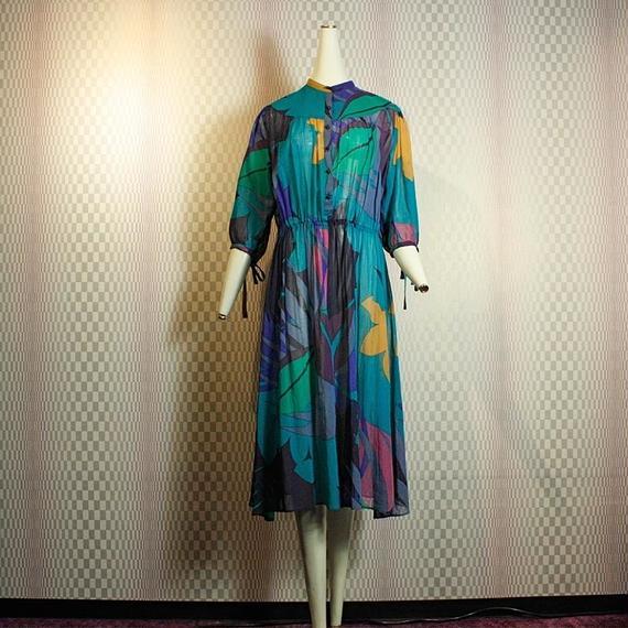 【Louis Feraud】Multi Pattern Dress