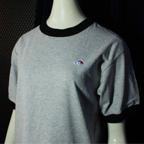 【bed】Original Logo Trim T Shirt / gray