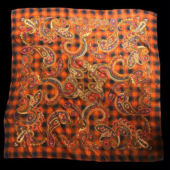 Paisley checked scarf / ペイズリー柄チェックスカーフ