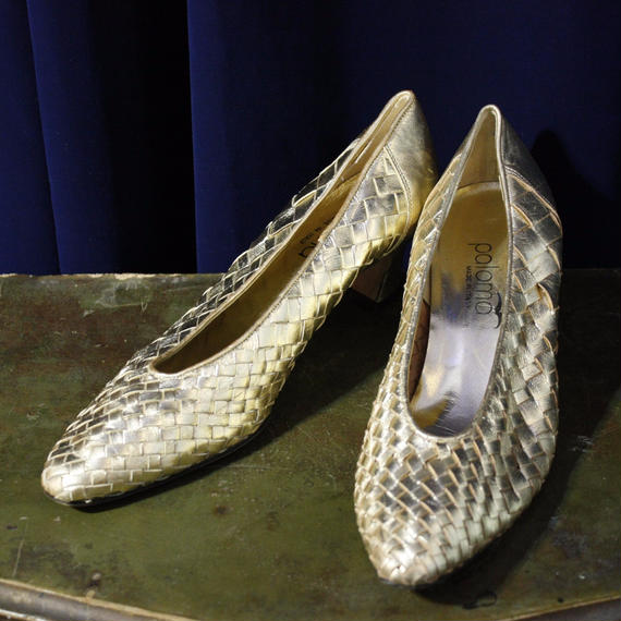 【paloma】Gold Mesh Pumps
