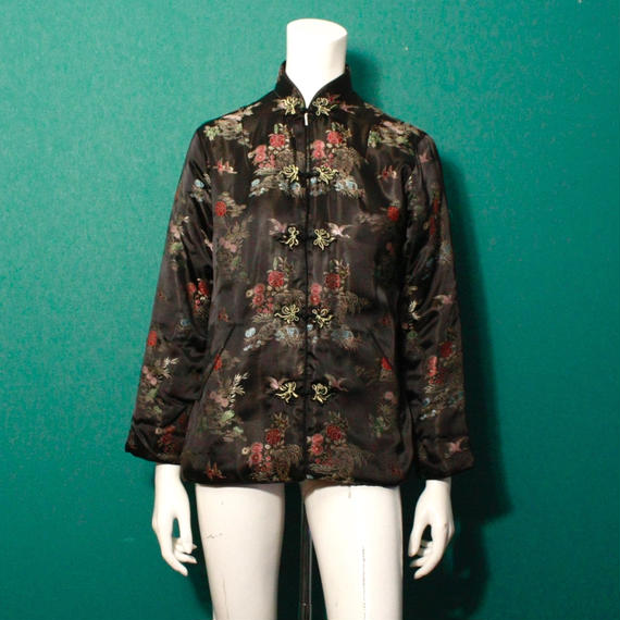 Vintage flower pattern china jaket / チャイナジャケット