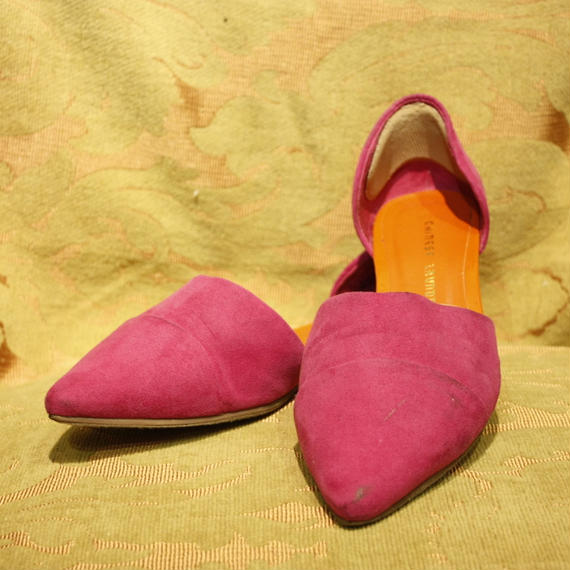 Pink Suede Flatshoes