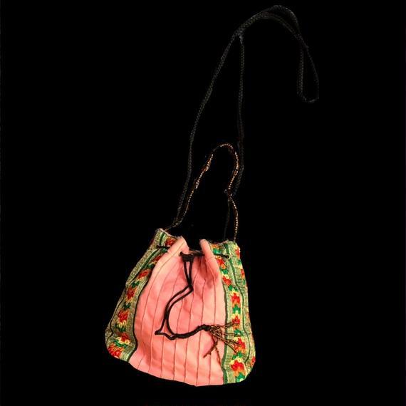Pink drawstrimgs bag