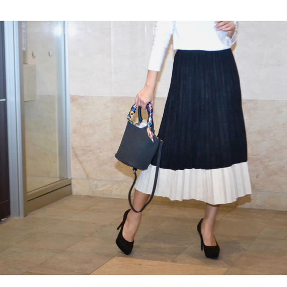 bicolor pleats skirt 2color(プリーツスカート 2色)