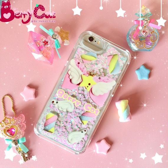 【即納品】天使マシュマロiPhone6グリッターケース