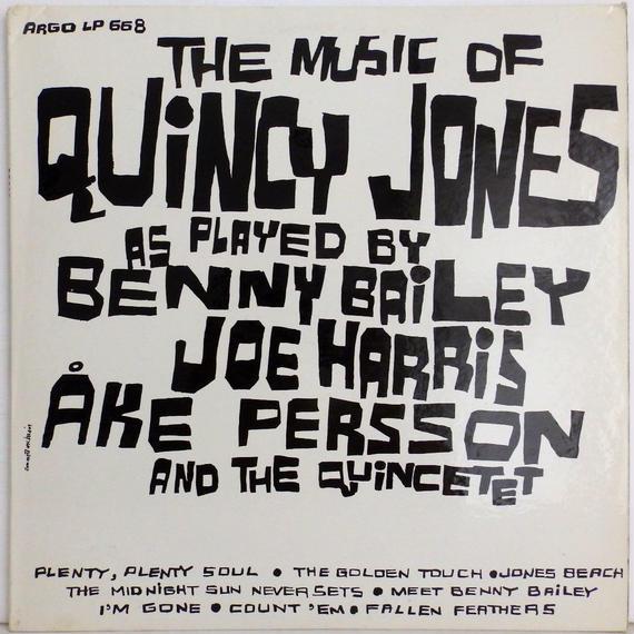 ★白プロモ 高音質★完全 オリジナル 深溝 BENNY BAILEY QUINCY JONES The music of クインシー・ジョーンズ ARGO モノラル 光沢カバー