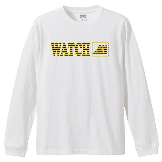 "WATCH MY KICKS  L/S tee ""Don't worry"" WH"