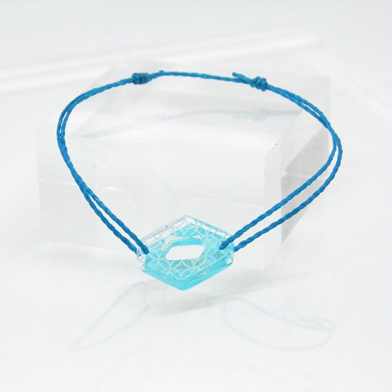 SKELE MONブレスレット/SHIPPO MON(七宝文)BLUE×BLUE BORDER (W10094A-SHI-BL)