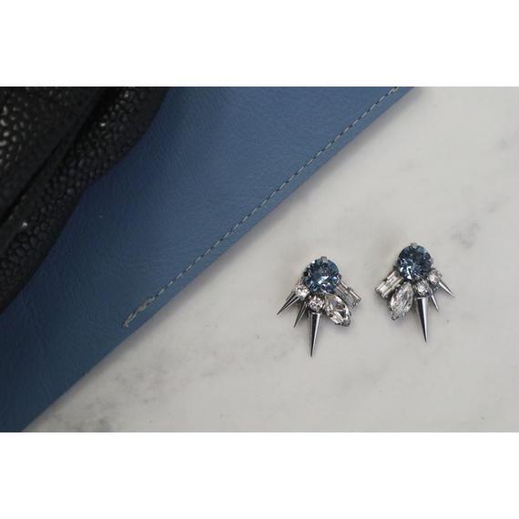 mini  spike bleu bijou
