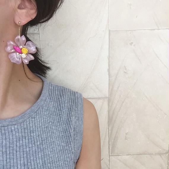 marble pink flower Pierce