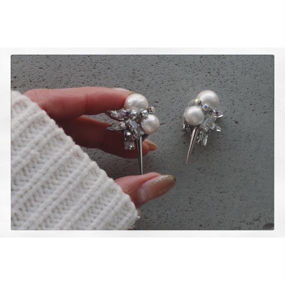 【Earring】toki toki Perl bijou spike