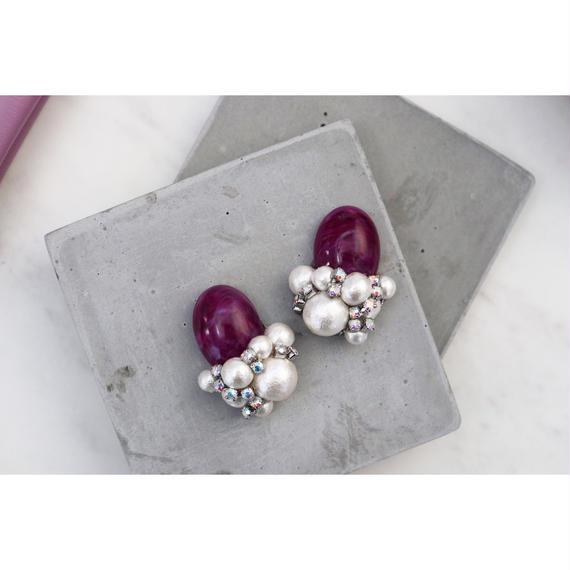 cotton pearl × purpule