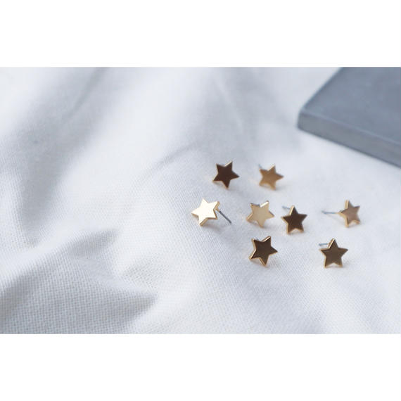 K16GP matte petit star Pierce☆