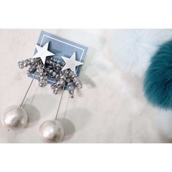 ※ピアスのみですK16GP  star× swing cotton pearl