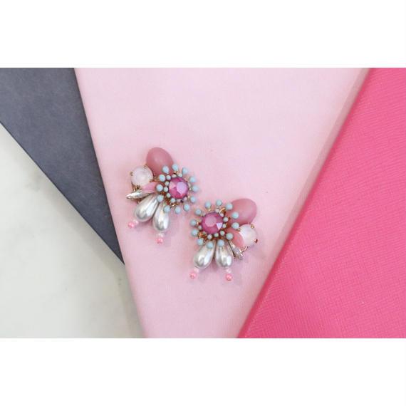 pink × bleu flower